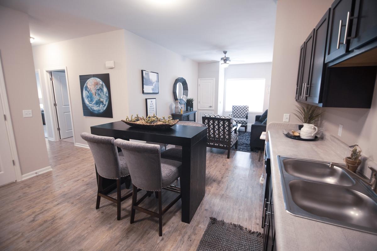 Bridges at Cameron Kitchen & Living Room